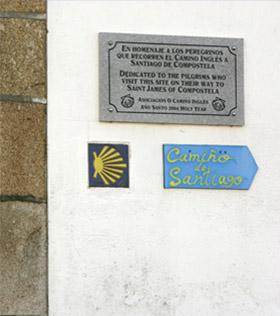 Camiño inglés a Santiago de Compostela